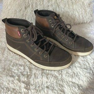 Levi's Goshen Waxed Faux Leather Sneakers 9.5